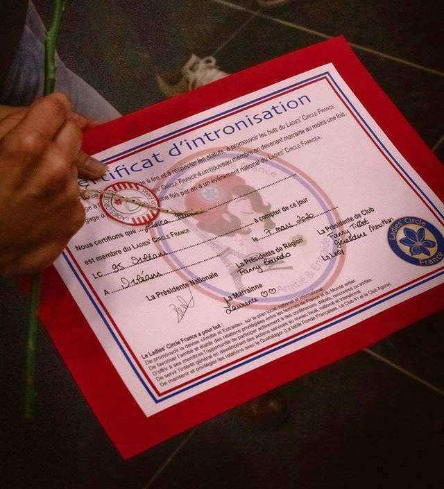 Certificat d'intronisation